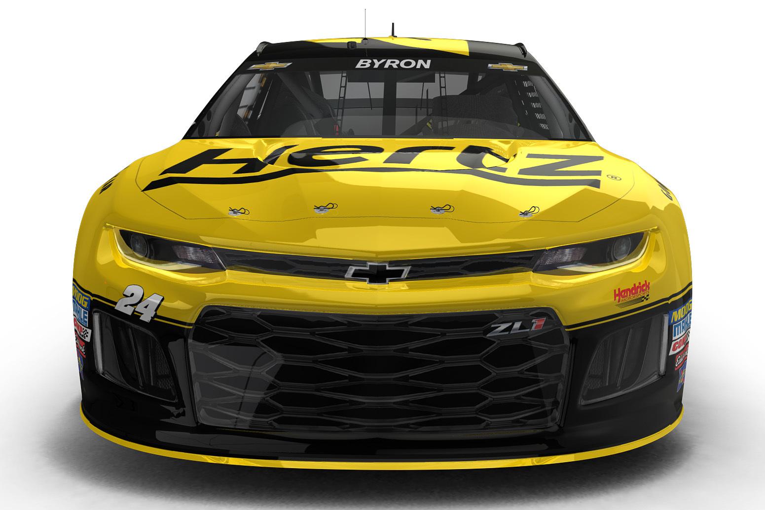 William Byron - 2018 Hertz NASCAR race car