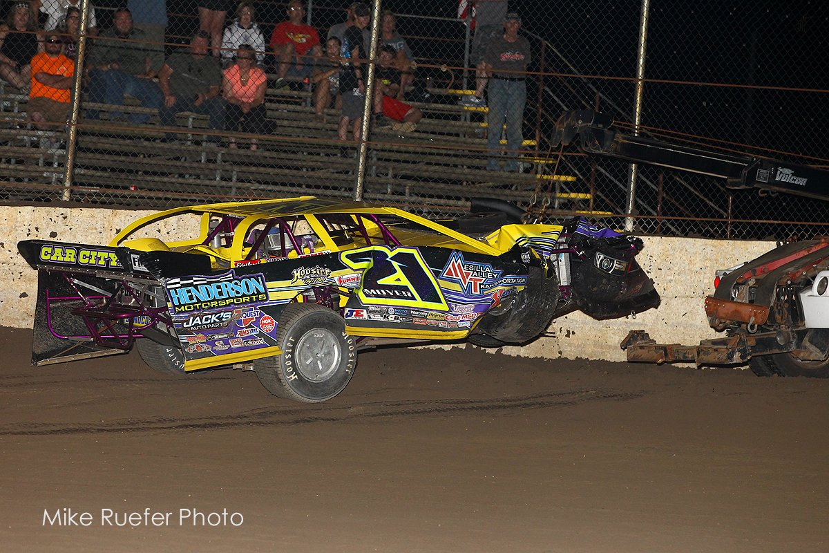 Billy Moyer pit gate crash
