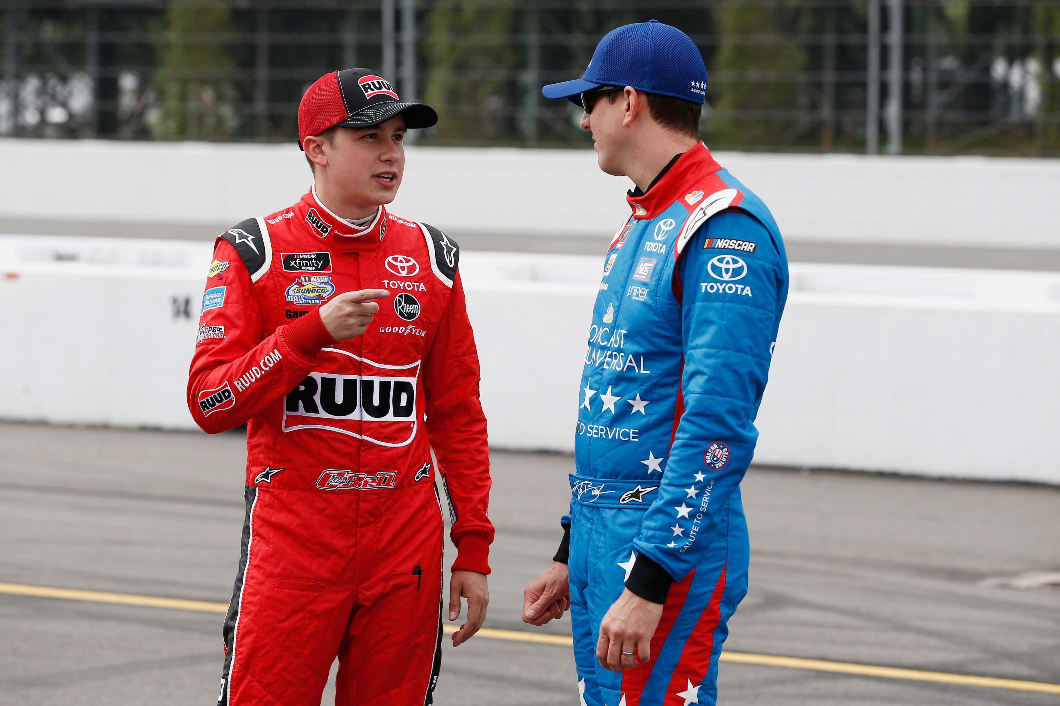 Christopher Bell and Kyle Busch