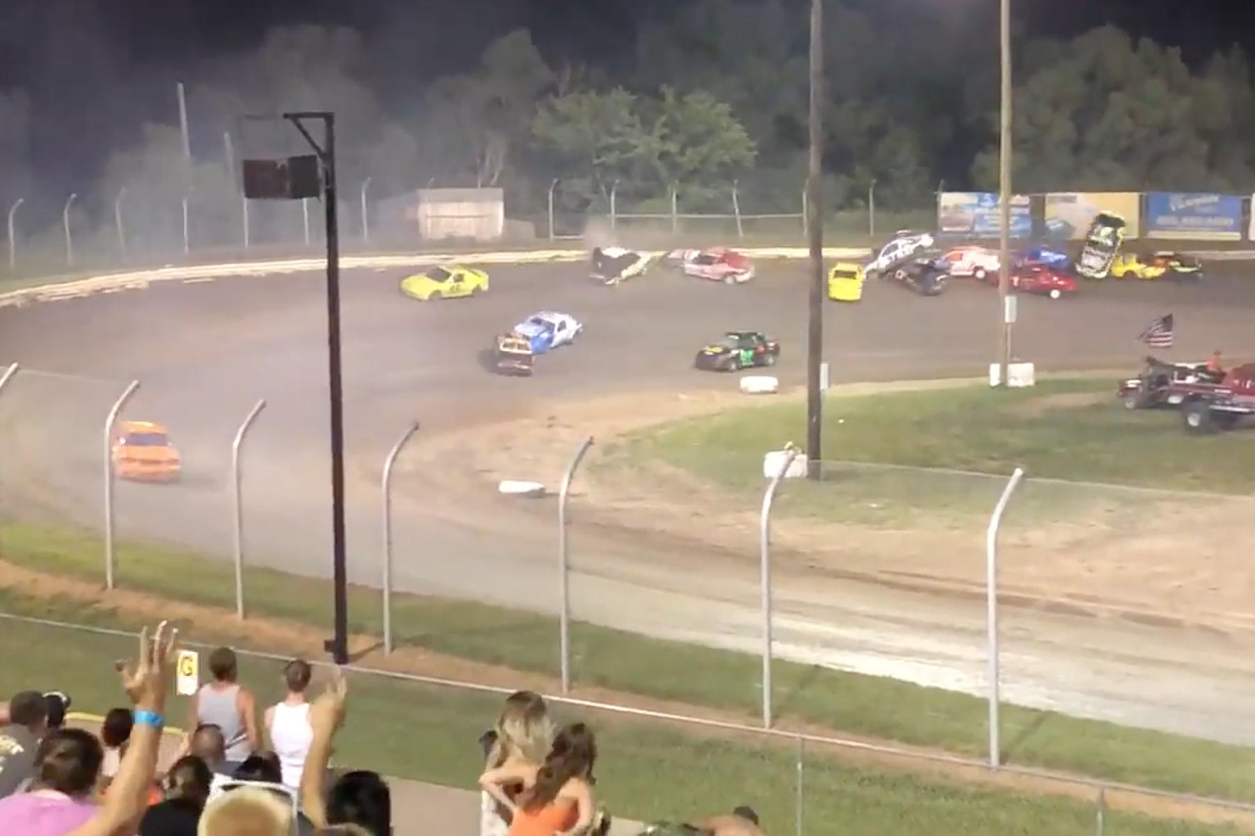 Eagle Raceway sport compact crash
