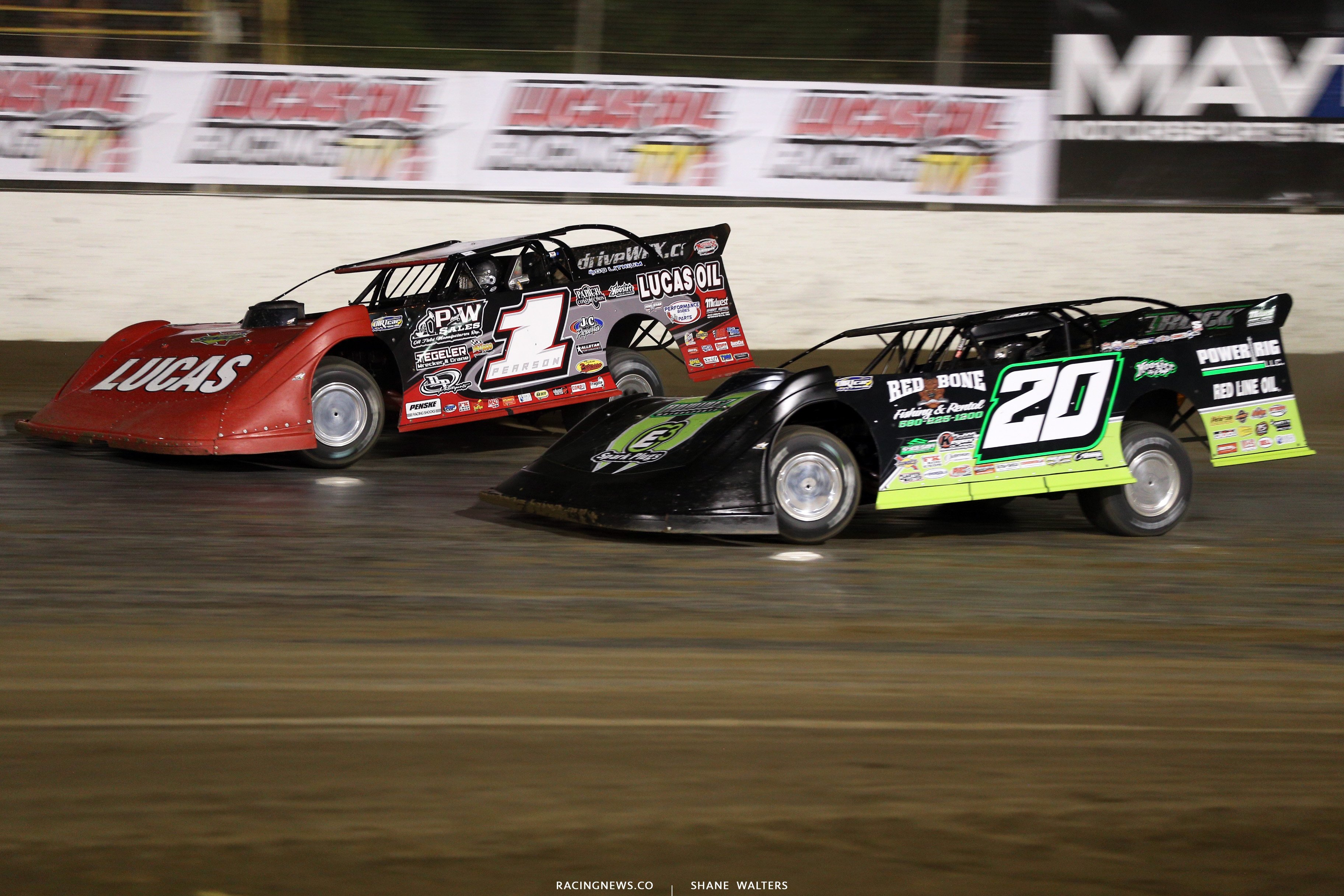 Earl Pearson Jr and Jimmy Owens - Lucas Oil Late Model Dirt Series 9528
