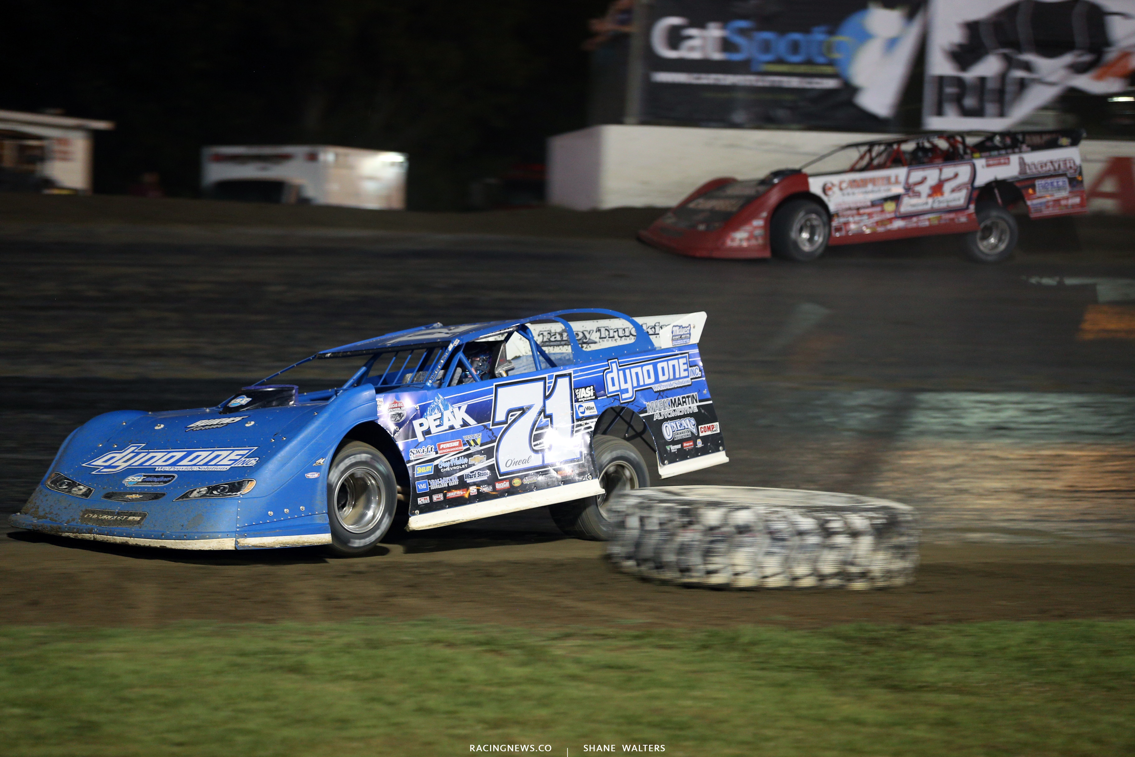 Hudson O'Neal and Bobby Pierce at Magnolia Motor Speedway