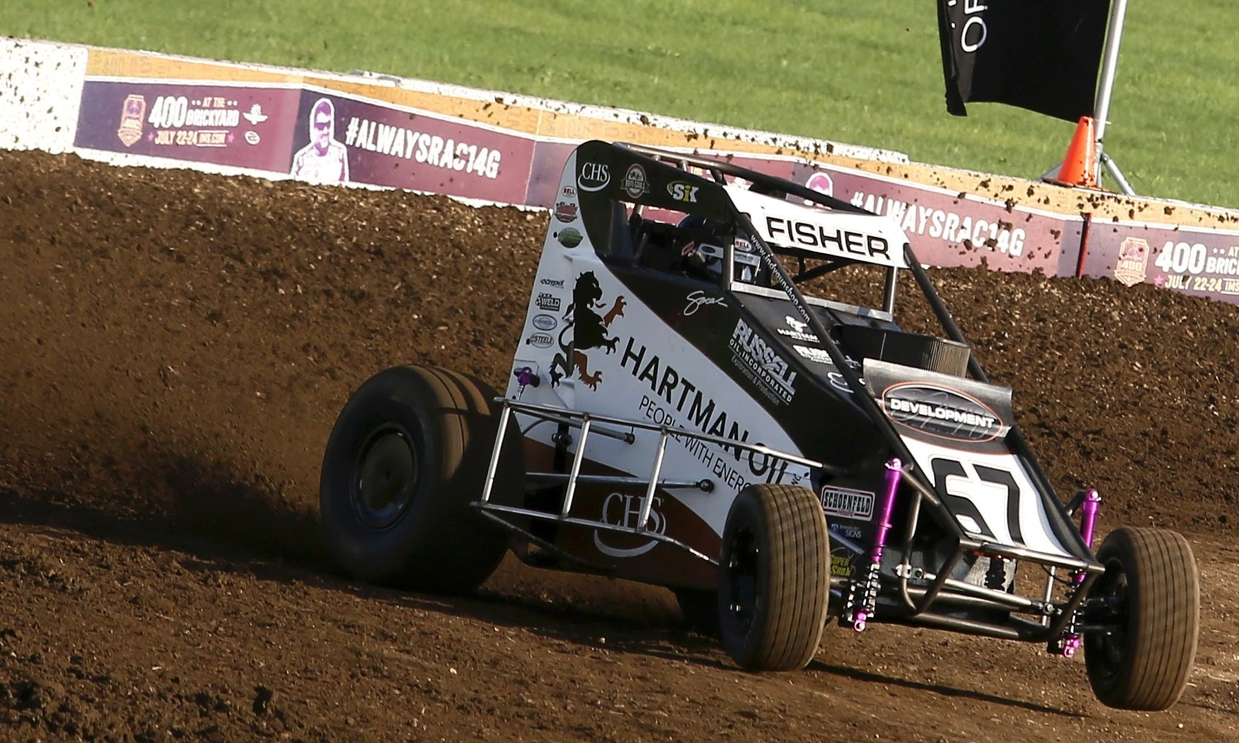 Indianapolis Motor Speedway dirt track - Sarah Fisher