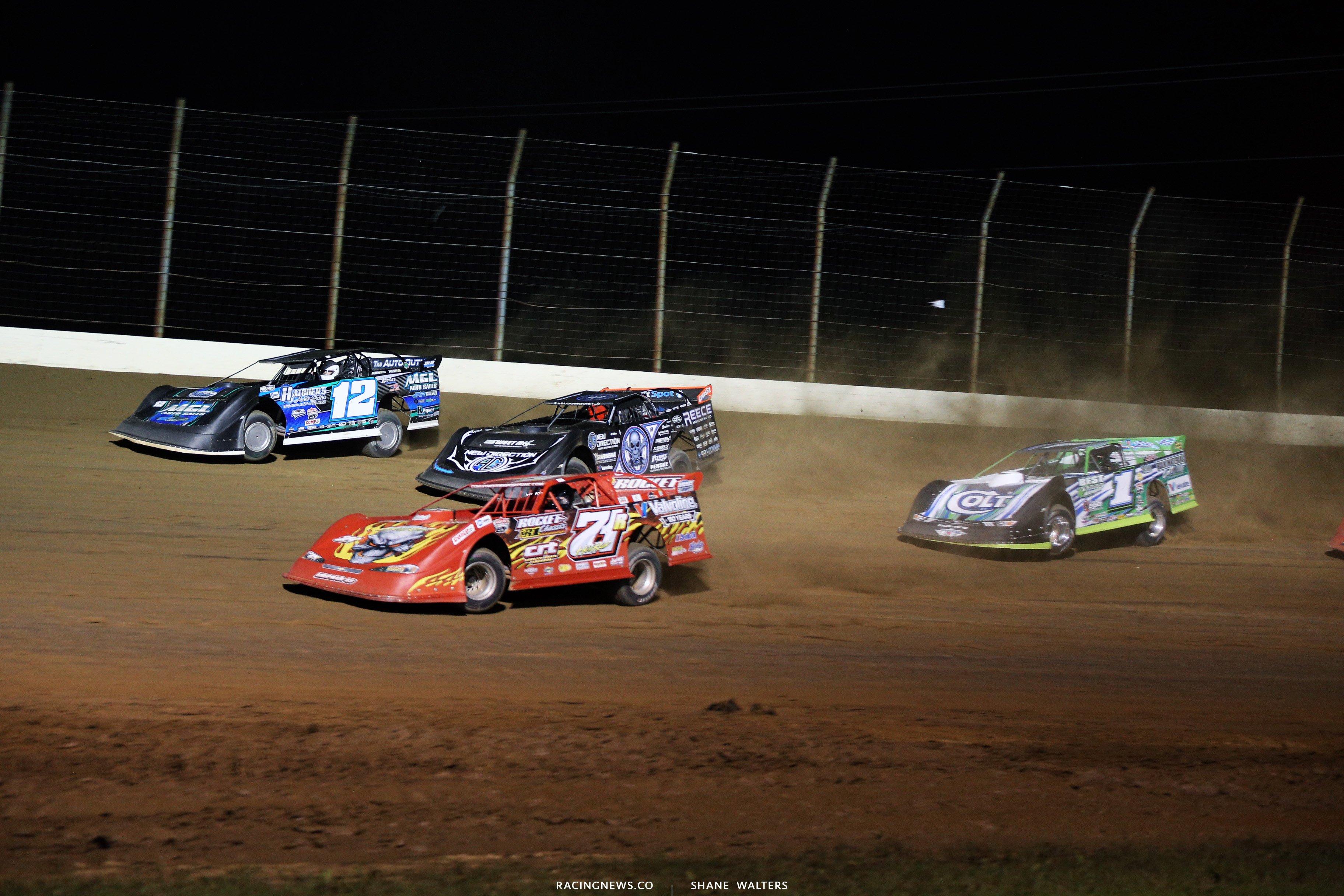 Jason Jameson, Rod Conley, Scott Bloomquist and Josh Richards at Potsmouth Raceway Park 0033