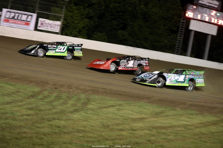 Josh Richards, Earl Pearson Jr and Josh Richards at Magnolia Motor Speedway 9519