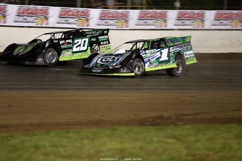 Josh Richards and Jimmy Owens at Magnolia Motor Speedway