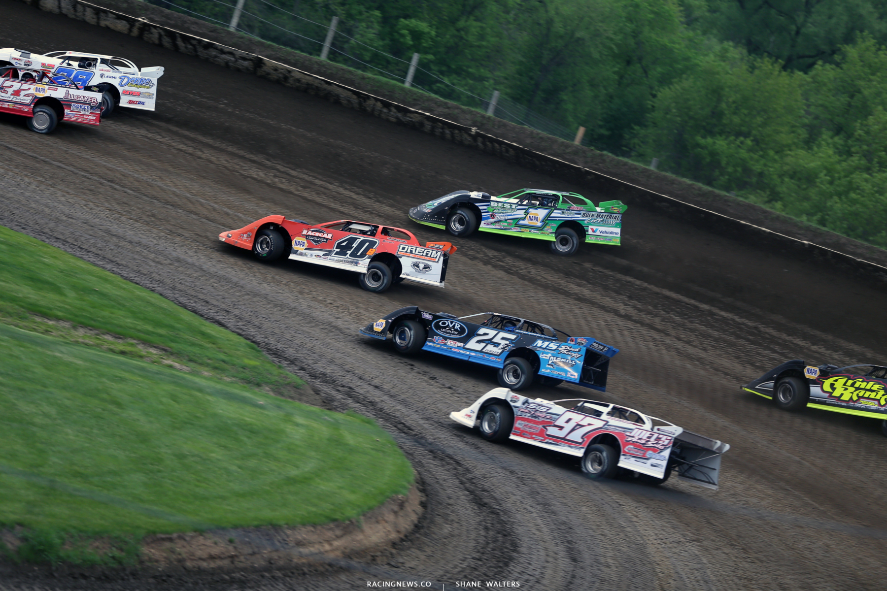 Kyle Bronson, Mason Zeigler and Josh Richards at Deer Creek Speedway 6944