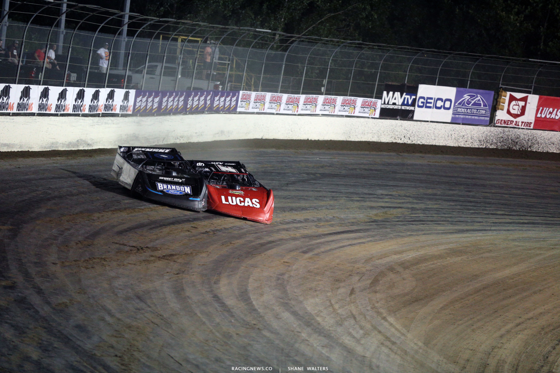 Kyle Bronson and Earl Pearson Jr at Magnolia Motor Speedway 9339