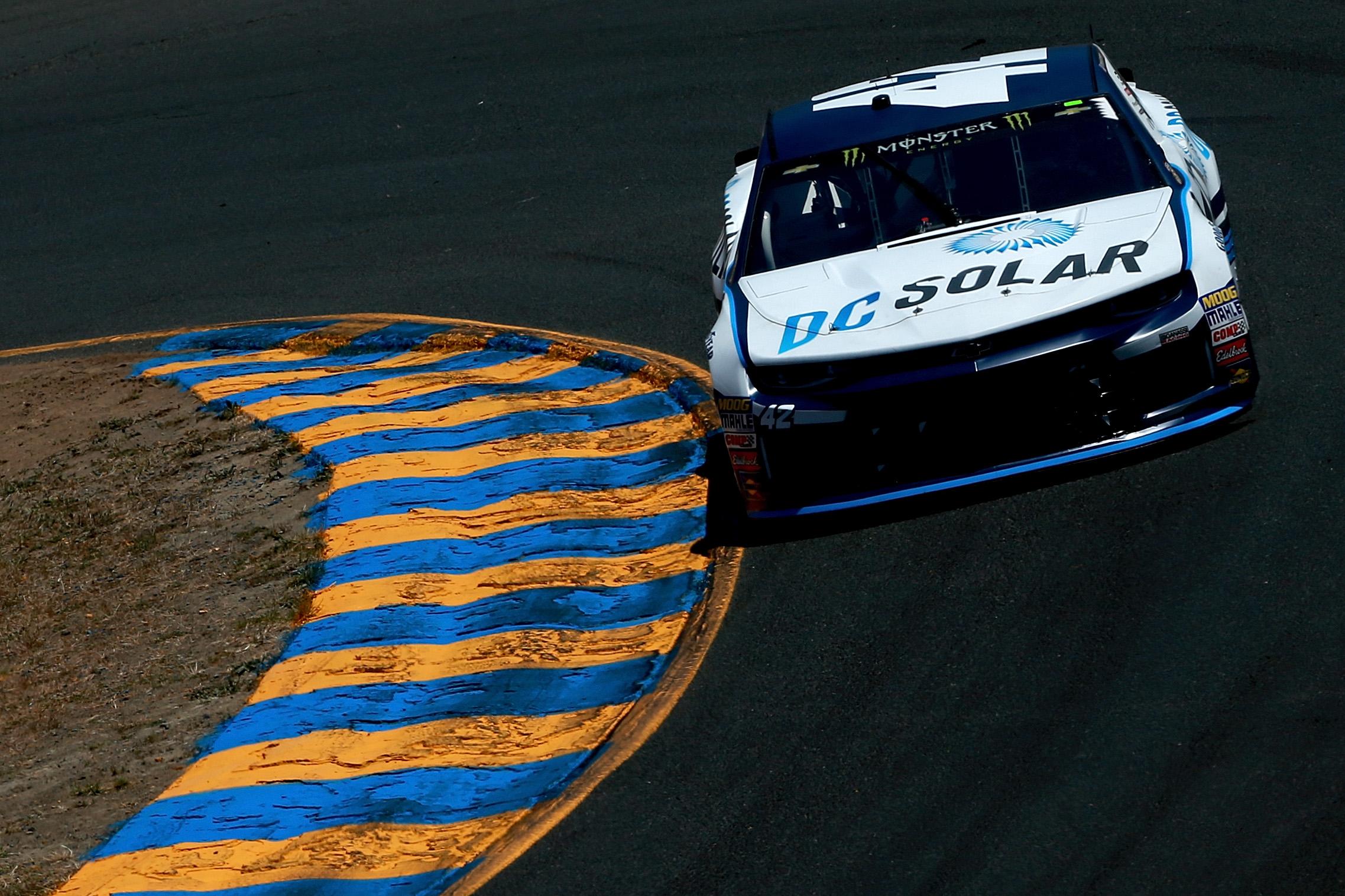 Kyle Larson at Sonoma Raceway