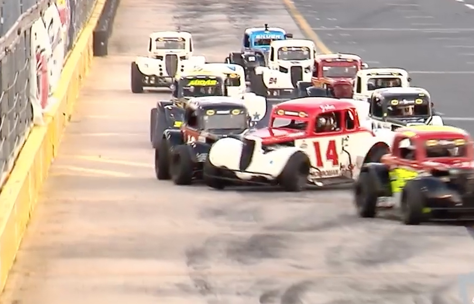 Legends driver tosses helmet at Charlotte Motor Speedway following spin