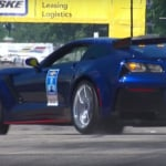 Mark Reuss Chevrolet Corvette pace car crash