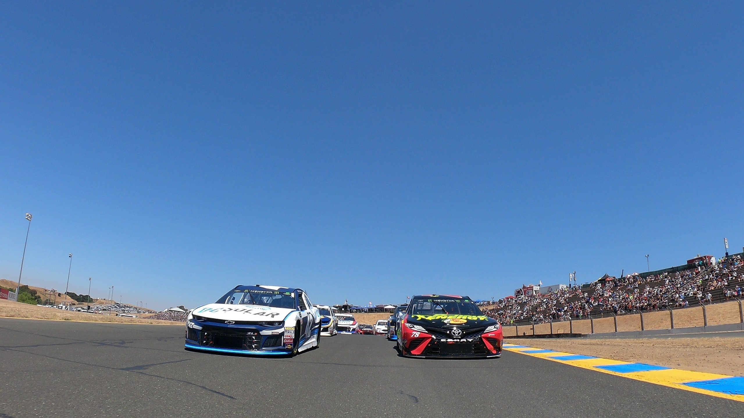 Martin Truex Jr and Martin Truex Jr at Sonoma Raceway