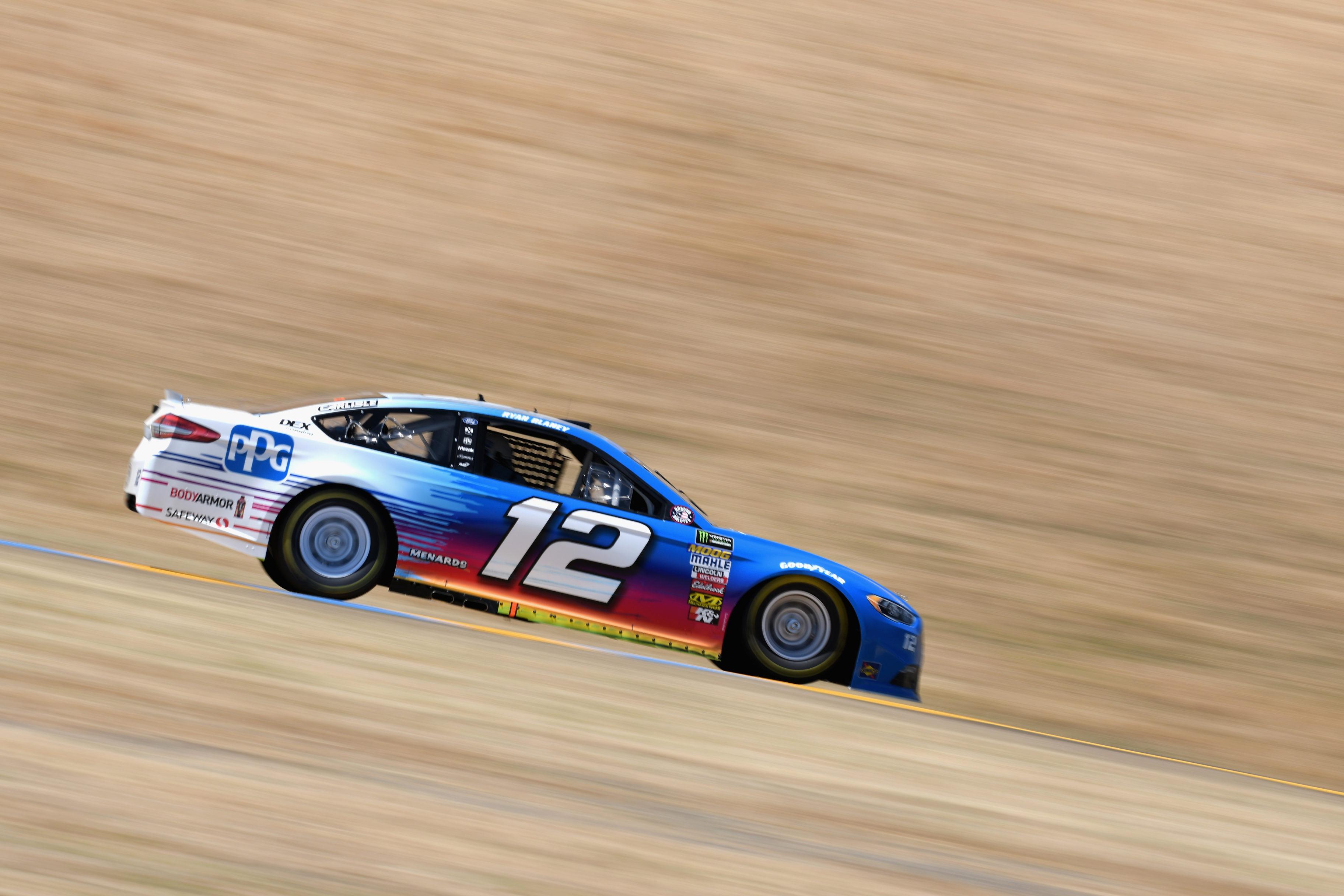 Ryan Blaney at Sonoma Raceway