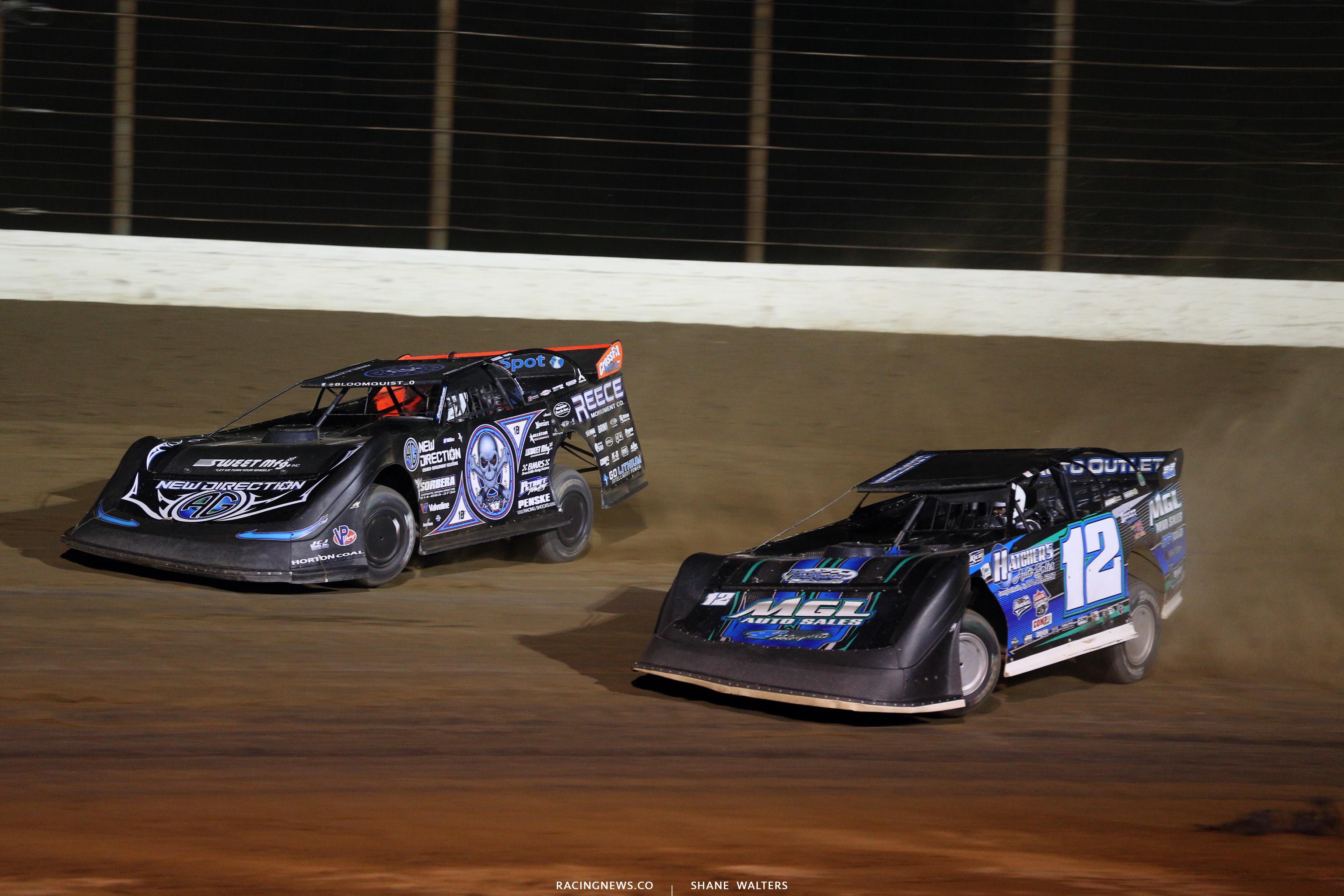 Scott Bloomquist and Jason Jameson at Portsmouth Raceway Park 0043