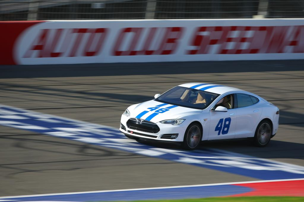 Tesla at Auto Club Speedway