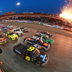 4 wide salute at Eldora Speedway