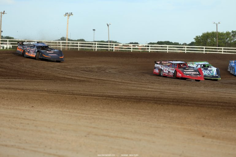 Bobby Pierce, Ricky Weiss and Josh Richards at Brown County Speedway 3051