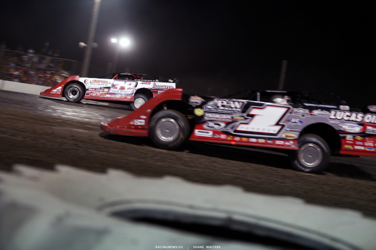 Bobby Pierce and Earl Pearson Jr at Brown County Speedway 3215