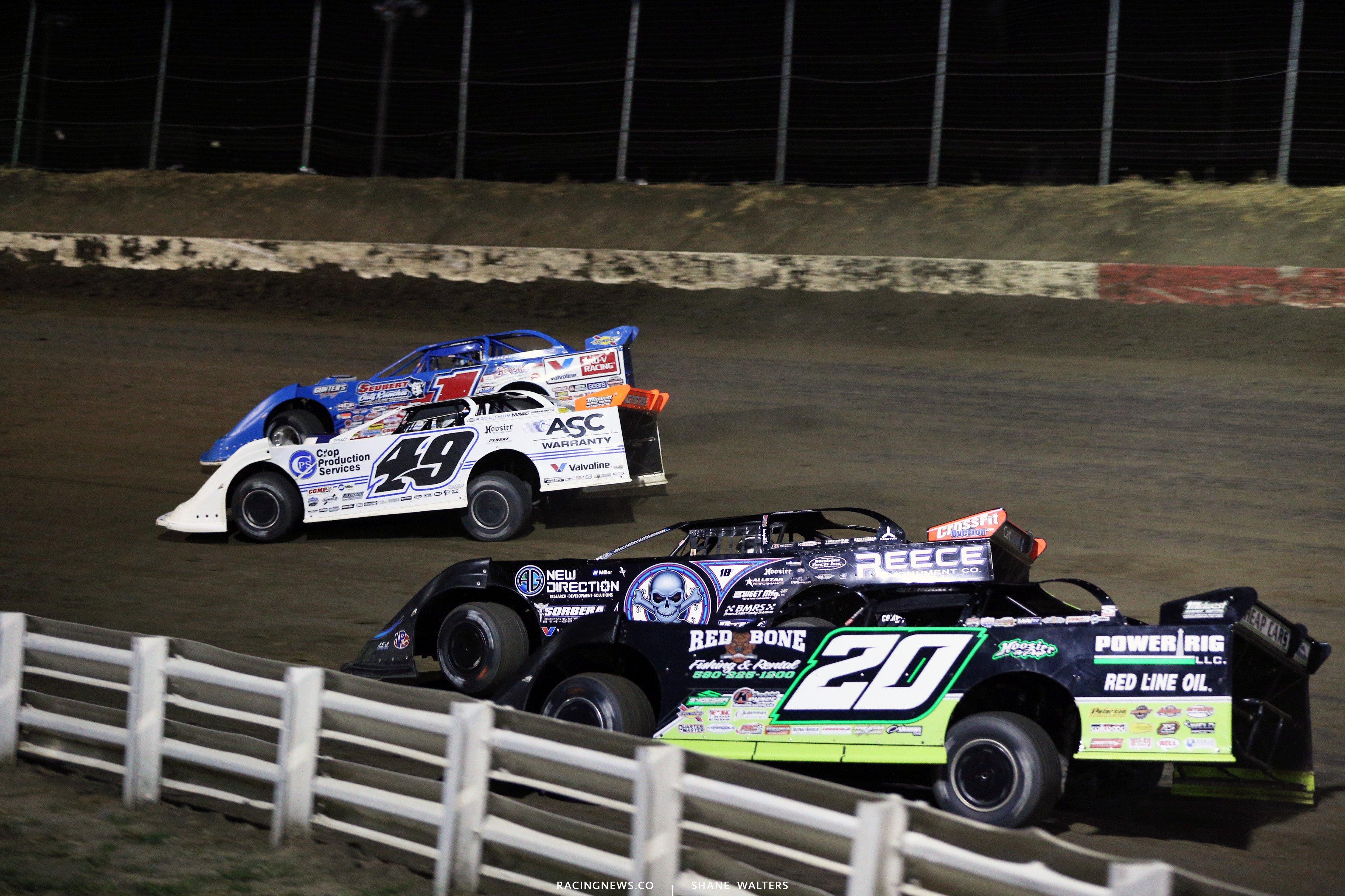 Brandon Sheppard, Jonathan Davenport, Scott Bloomquist and Jimmy Owens at I-80 Speedway 3839