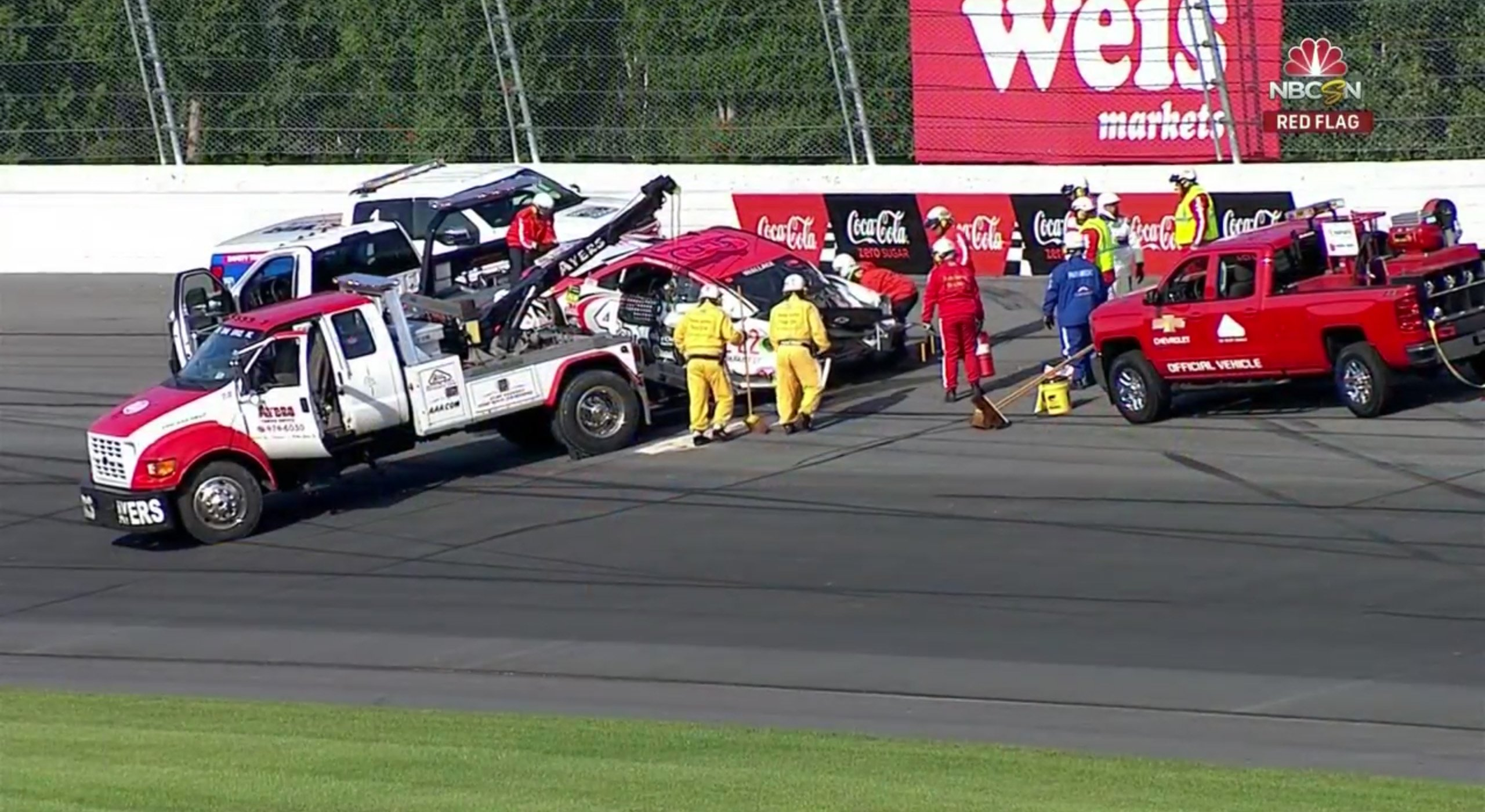 Bubba Wallace brake failure at Pocono Raceway