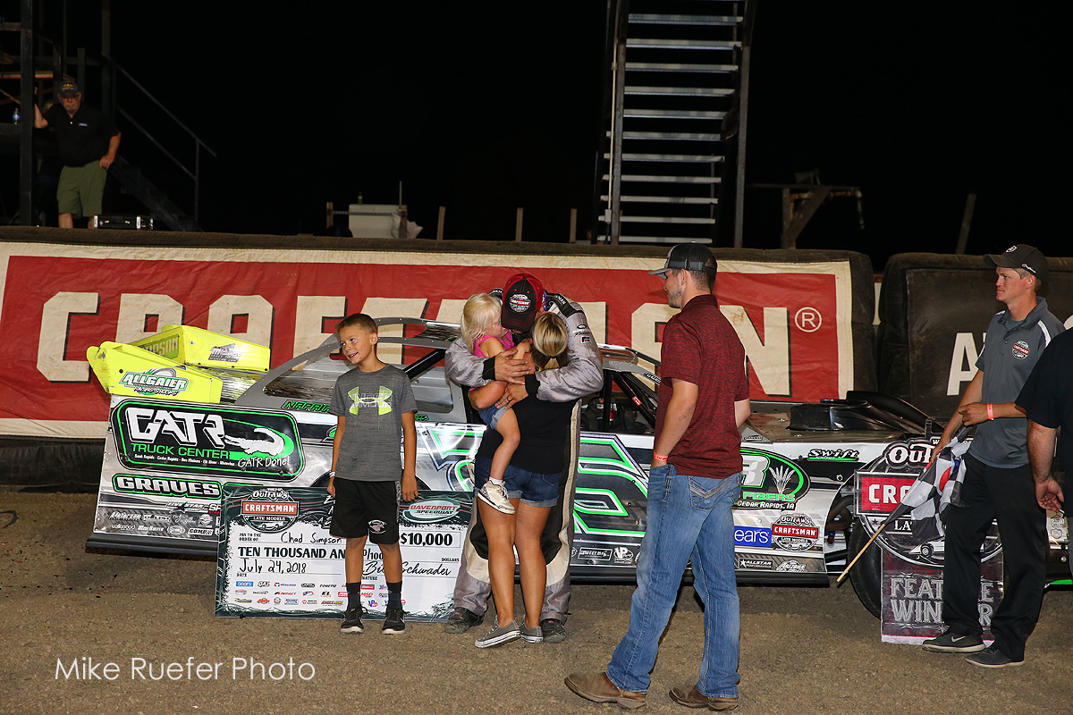 Chad Simpson wins WoOLMS race