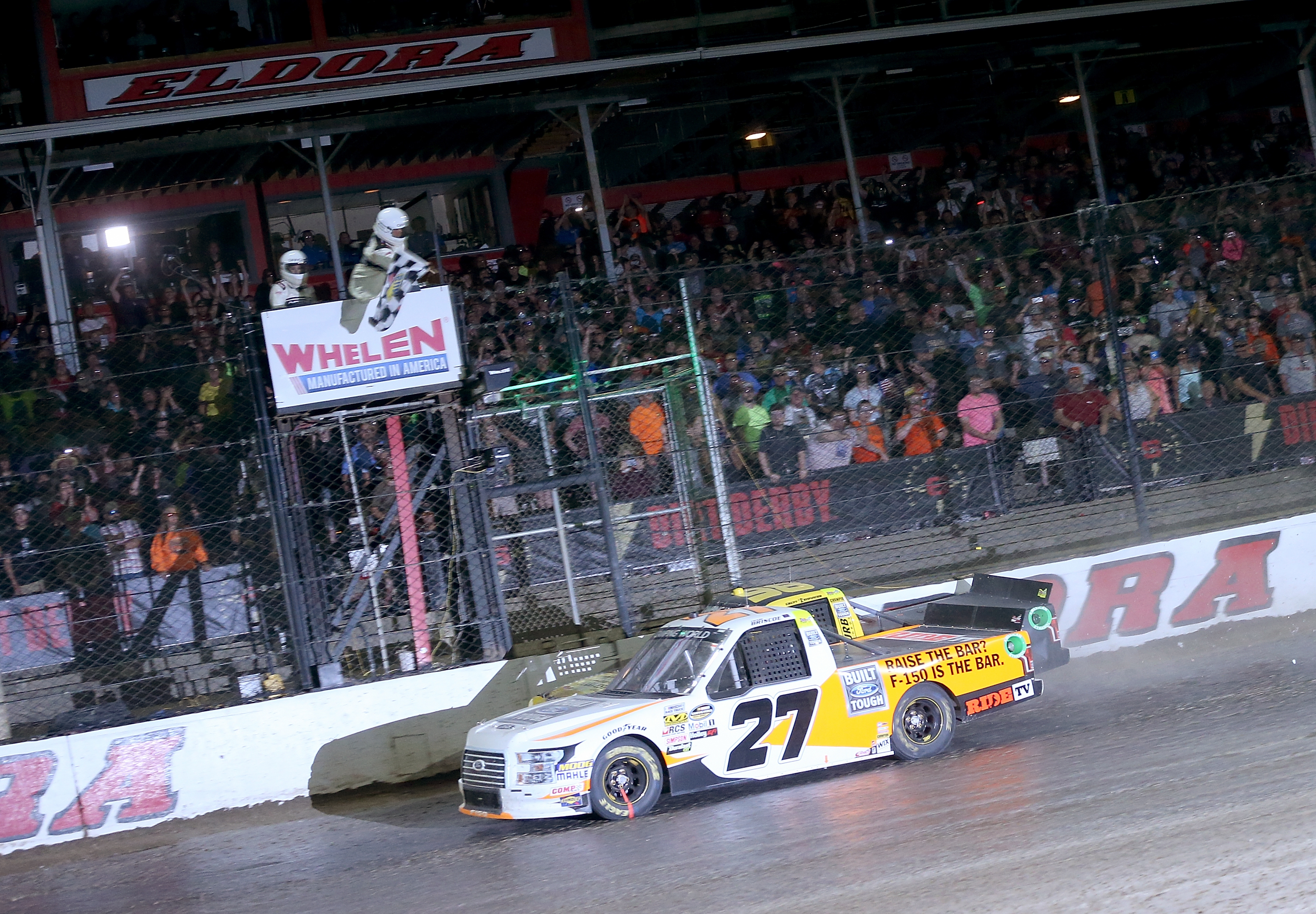 Chase Briscoe and Grant Enfinger at Eldora Speedway
