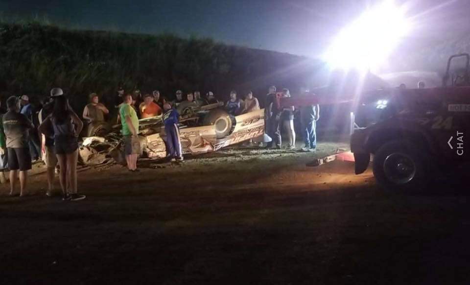 Darrick York - Dirt Late Model Crash