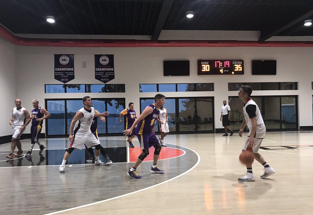 Denny Hamlin's basketball court