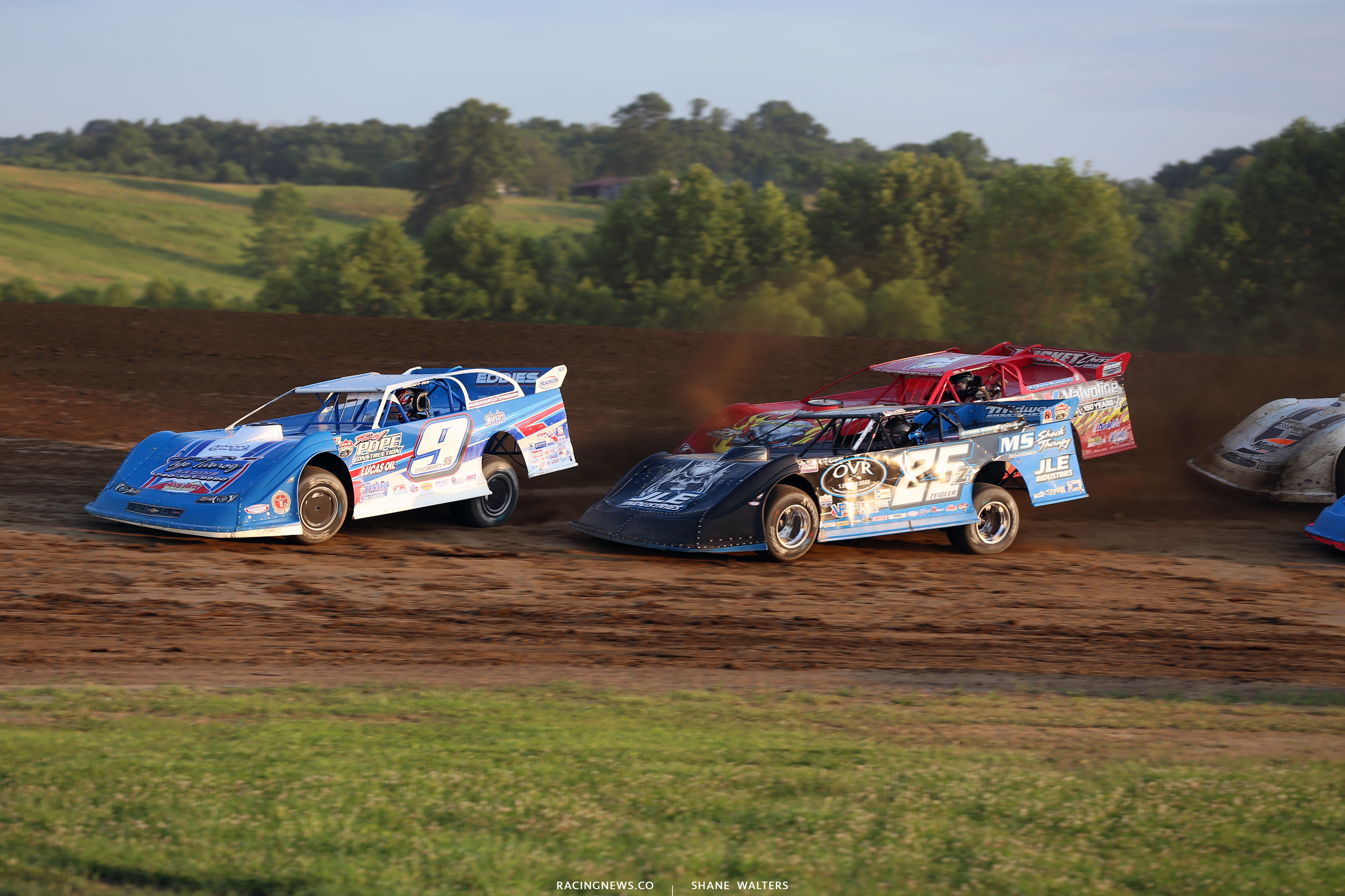 Devin Moran and Mason Zeigler at Muskingum County Speedway 1672