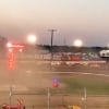 Eagle Raceway helicopter - official struck by race car