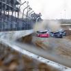 Earl Pearson Jr, Gregg Satterlee and Kyle Bronson at Mansfield Motor Speedway 0728