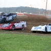 Gregg Satterlee, Bobby Pierce and Jonathan Davenport at Muskingum County Speedway 1708