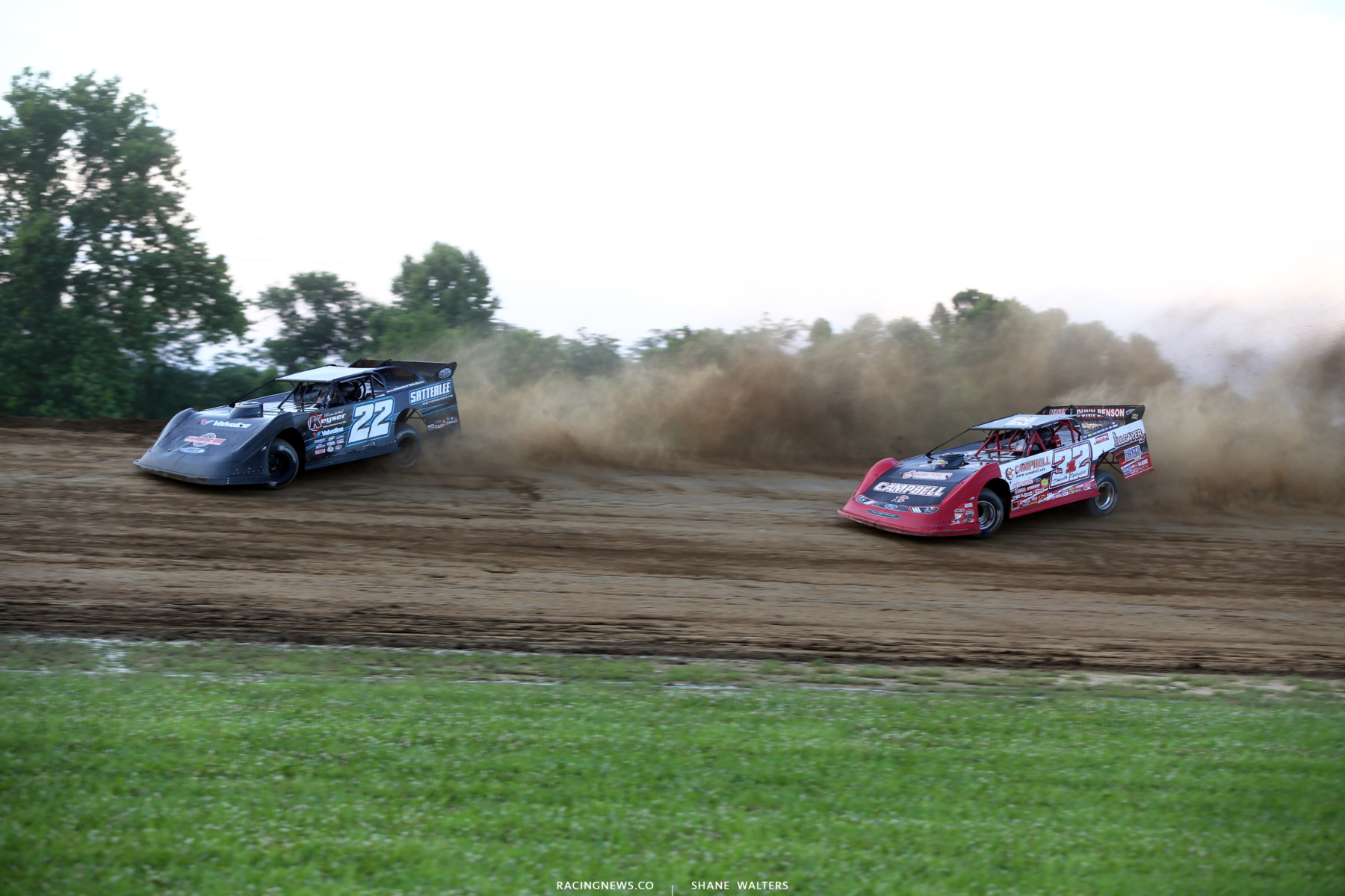 Gregg Satterlee and Bobby Pierce at Muskingum County Speedway 1725