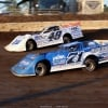 Hudson O'Neal and Jonathan Davenport at I-80 Speedway