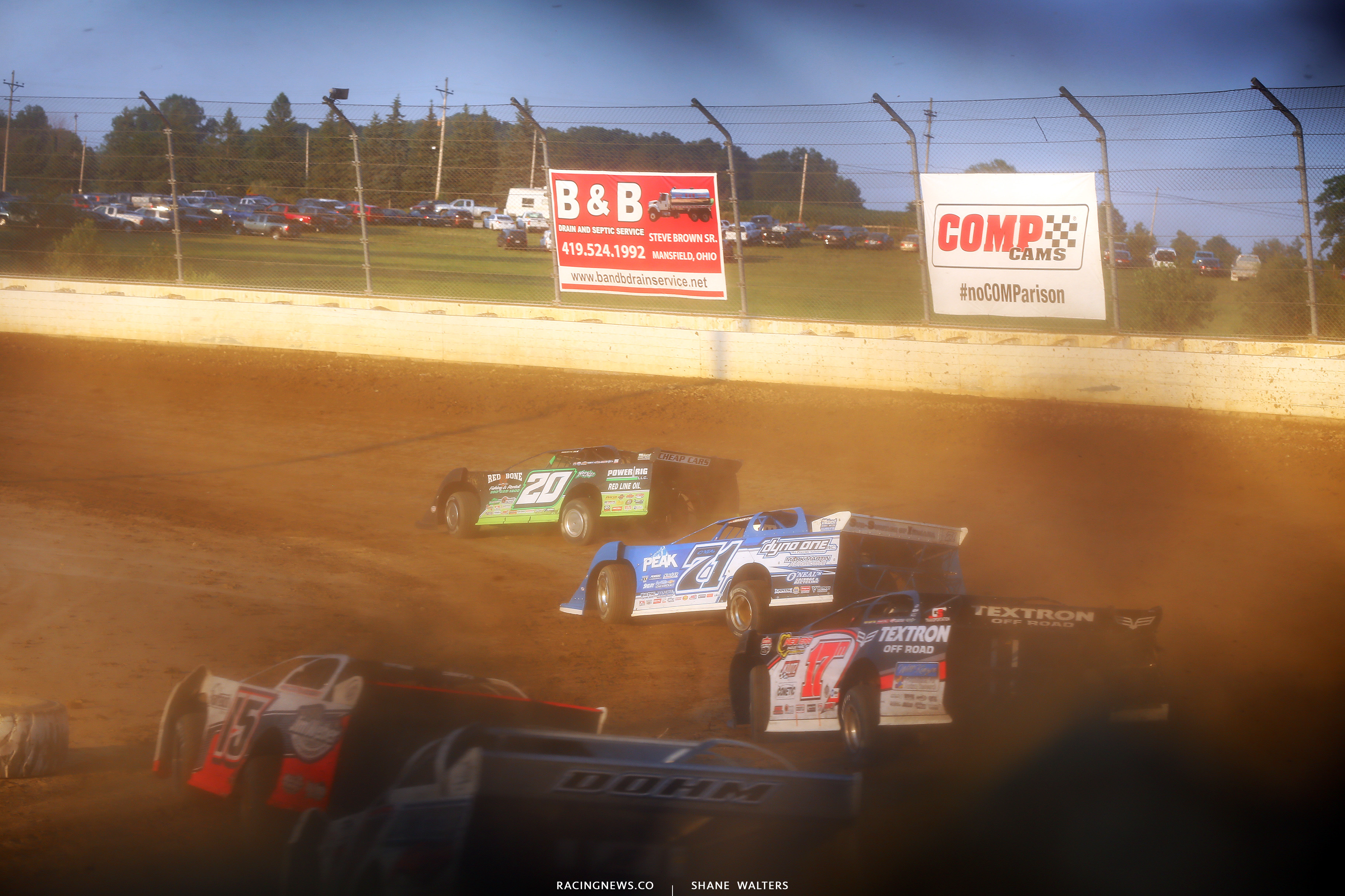 Jimmy Owens, Hudson O'Neal and Dale McDowell at Mansfield Motor Speedway - LOLMDS 0455