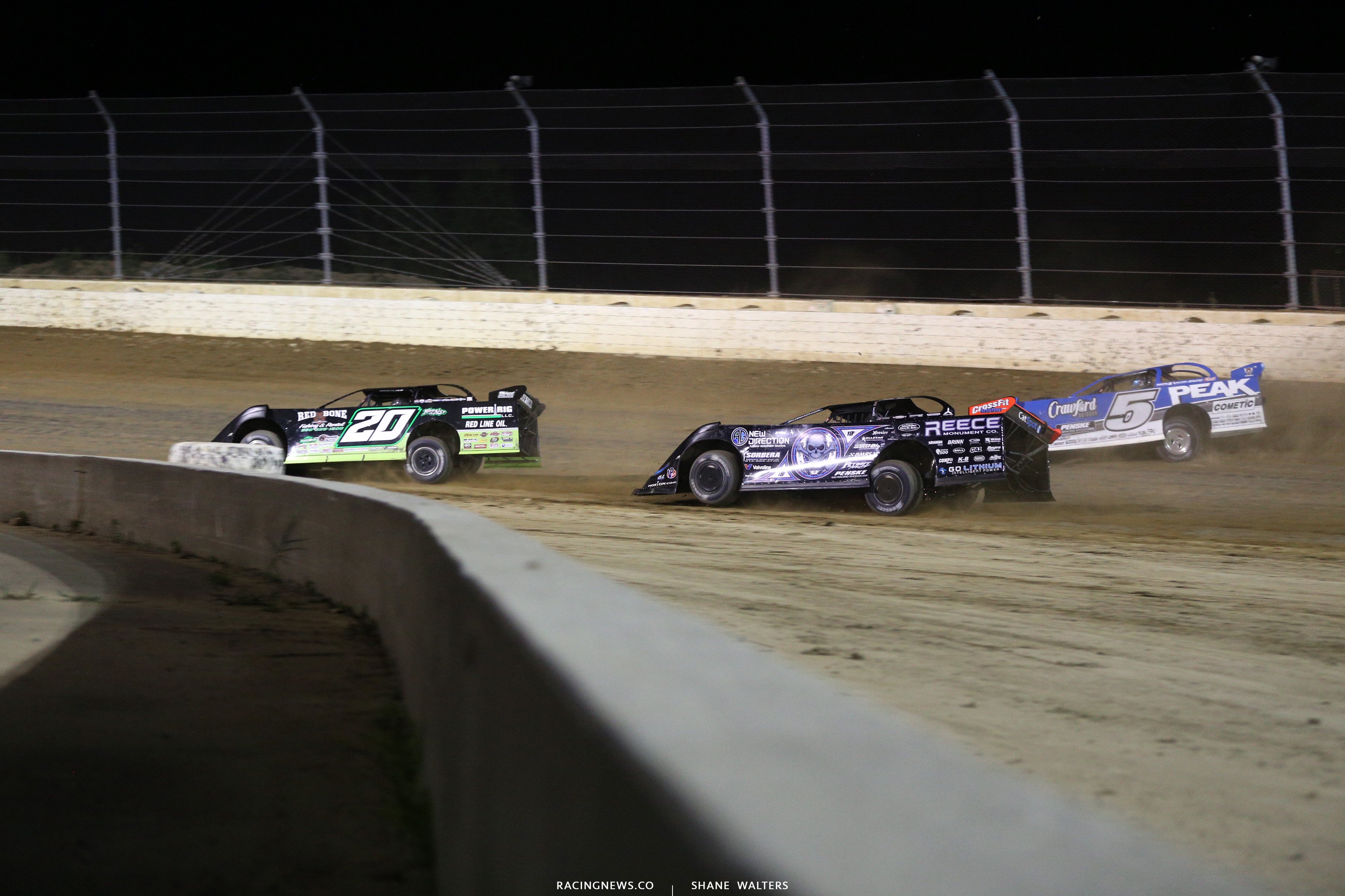 Jimmy Owens, Scott Bloomquist and Don O'Neal and Mansfield Motor Speedway 0811