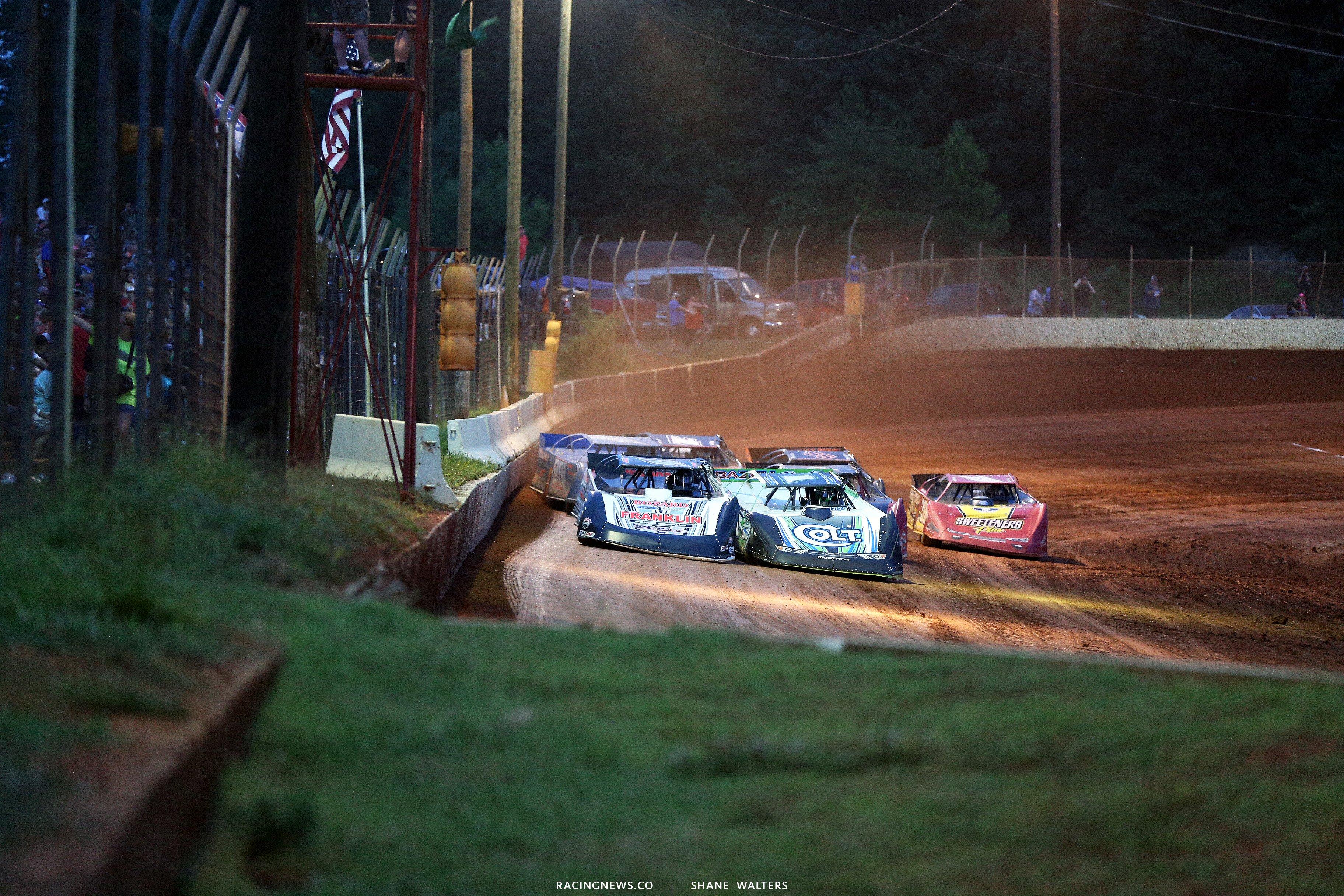 Josh Richards and Brandon Overton at Cherokee Speedway 2058