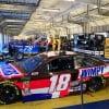 Kyle Busch and Martin Truex Jr - Kentucky Speedway garage area