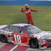 Kyle Busch wins with a flat tire at Chicagoland Speedway