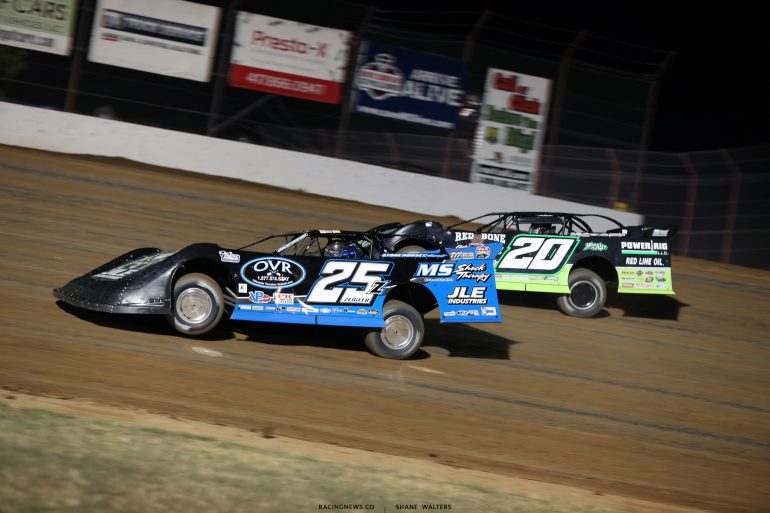 Mason Zeigler and Jimmy Owens at Lucas Oil Speedway