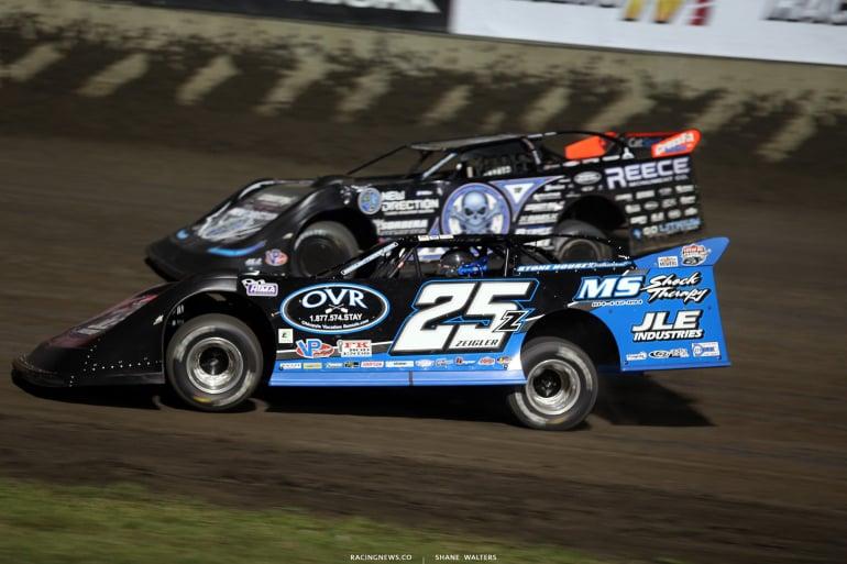Mason Zeigler and Scott Bloomquist at Tri-City Speedway 2471