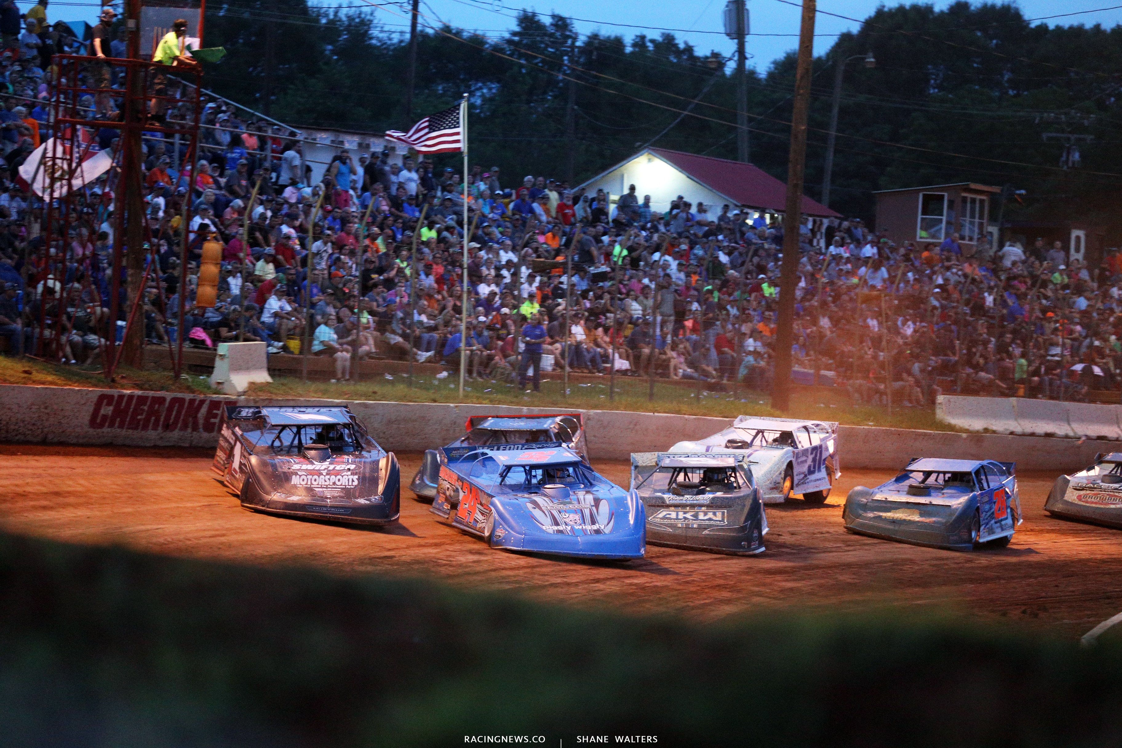 Michael Brown and Brent Dixon at Cherokee Speedway 2064