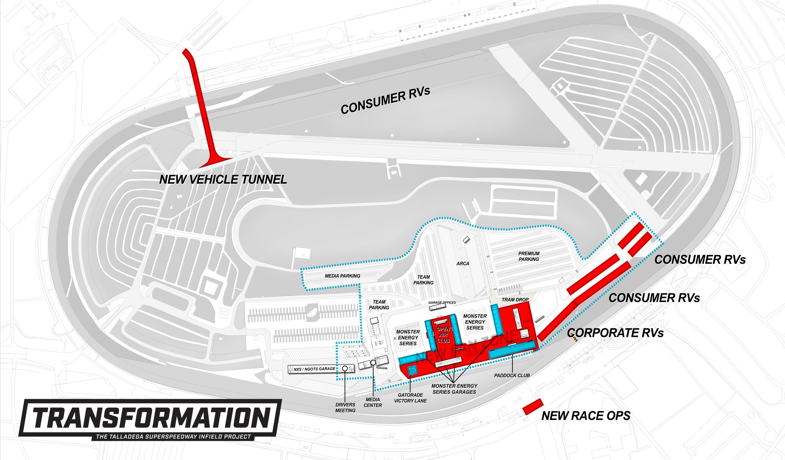 New Talladega Superspeedway area map