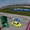 Paul Menard and Ryan Blaney at Chicagoland Speedway