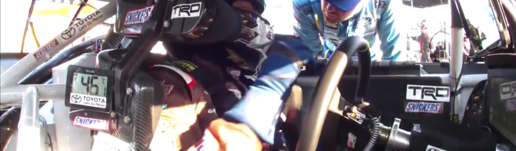 Ricky Stenhouse Jr confronts Kyle Busch (Video)