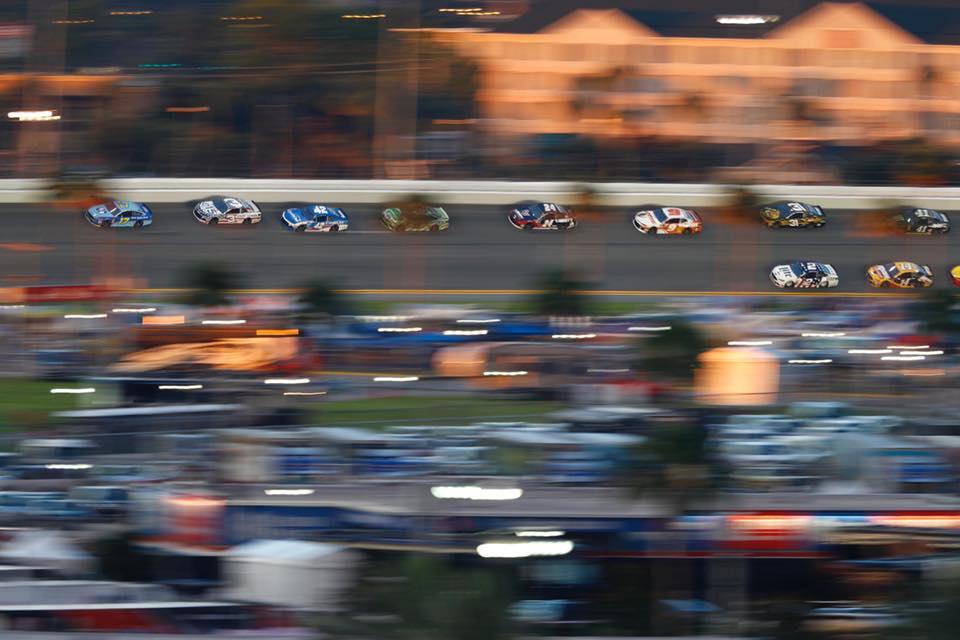 Ricky Stenhouse Jr leads at Daytona