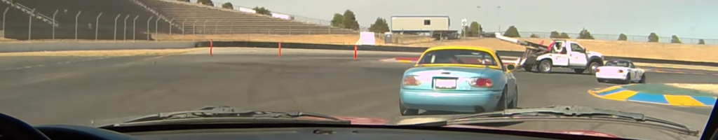 Tow truck collides with race car at Sonoma Raceway