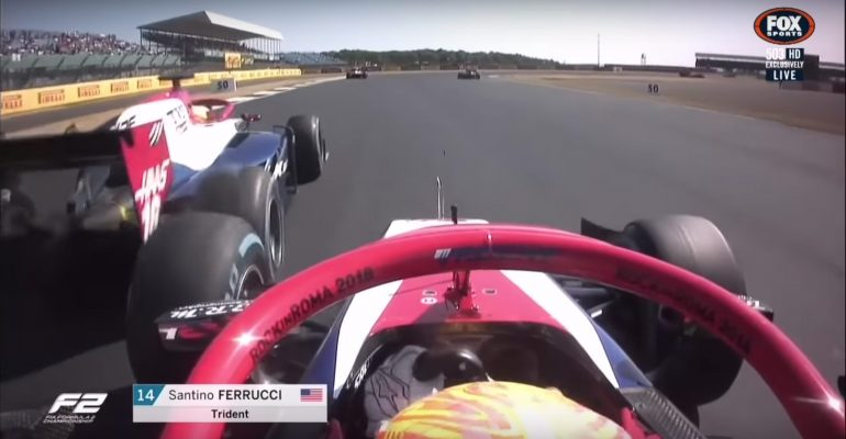 Santino Ferrucci vs Arjun Maini at the Silverstone Circuit