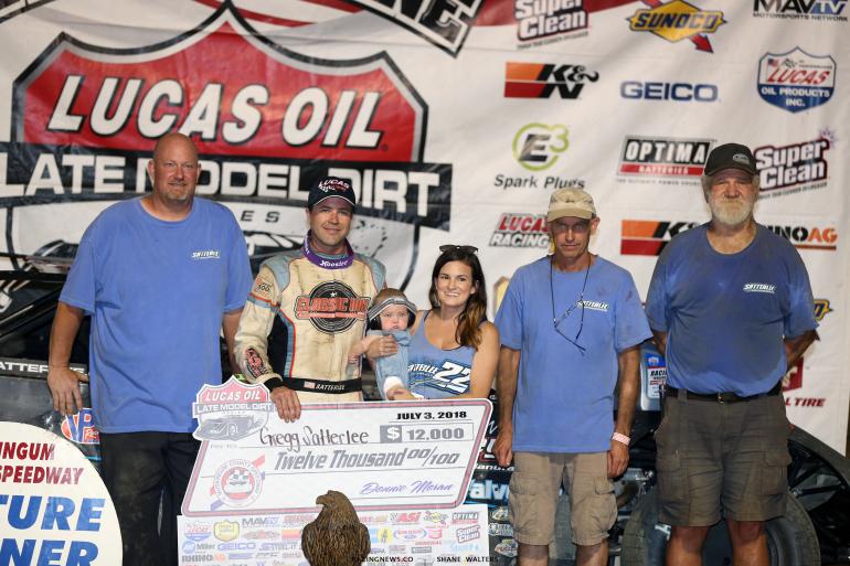 Satterlee Motorsports in victory lane at Muskingum County Speedway