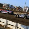 Scott Bloomquist and Brandon Sheppard at I-80 Speedway